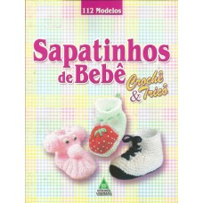 Sapatinhos de bebê de tricô e crochê